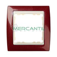 Marco Embellecedor Metal Color SIMON 82 - Color Granate Metalizado