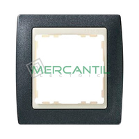 Marco Embellecedor Metal Color SIMON 82 - Color Gris Granito