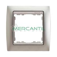 Marco Embellecedor Metal Noble Aluminio SIMON 82 - Color Aluminio Mate