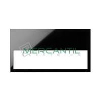 Marco Embellecedor Minimo 2 Elementos SIMON 100 - Color Negro mate