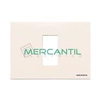 Marco Embellecedor Monocaja 1 Modulo Zenit NIESSEN - Color Blanco