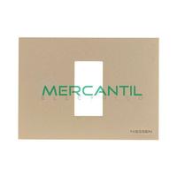 Marco Embellecedor Monocaja 1 Modulo Zenit NIESSEN - Color Cava