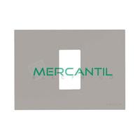 Marco Embellecedor Monocaja 1 Modulo Zenit NIESSEN - Color Plata