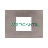 Marco Embellecedor Monocaja 2 Modulos Zenit NIESSEN - Color Acero Inoxidable