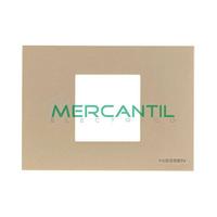 Marco Embellecedor Monocaja 2 Modulos Zenit NIESSEN - Color Cava