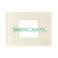 Marco Embellecedor Monocaja 2 Modulos Zenit NIESSEN - Color Cristal Blanco