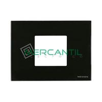 Marco Embellecedor Monocaja 2 Modulos Zenit NIESSEN - Color Cristal Negro