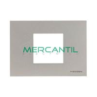 Marco Embellecedor Monocaja 2 Modulos Zenit NIESSEN - Color Plata