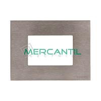 Marco Embellecedor Monocaja 3 Modulos Zenit NIESSEN - Color Acero Inoxidable