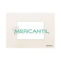 Marco Embellecedor Monocaja 3 Modulos Zenit NIESSEN - Color Blanco