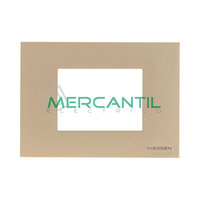 Marco Embellecedor Monocaja 3 Modulos Zenit NIESSEN - Color Cava