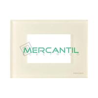 Marco Embellecedor Monocaja 3 Modulos Zenit NIESSEN - Color Cristal Blanco