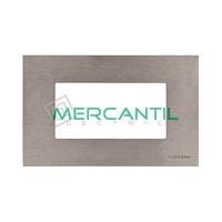 Marco Embellecedor Monocaja 4 Modulos Zenit NIESSEN - Color Acero Inoxidable
