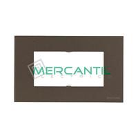 Marco Embellecedor Monocaja 4 Modulos Zenit NIESSEN - Color Antracita