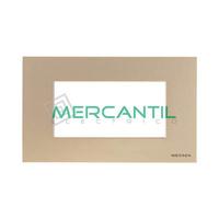 Marco Embellecedor Monocaja 4 Modulos Zenit NIESSEN - Color Cava