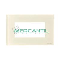 Marco Embellecedor Monocaja 4 Modulos Zenit NIESSEN - Color Cristal Blanco