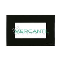 Marco Embellecedor Monocaja 4 Modulos Zenit NIESSEN - Color Cristal Negro