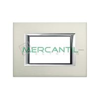 Marco Embellecedor Rectangular Axolute BTICINO - Color Aluminio Pulido