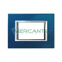 Marco Embellecedor Rectangular Axolute BTICINO - Color Azul Meissen