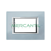 Marco Embellecedor Rectangular Axolute BTICINO - Color Cristal Azul