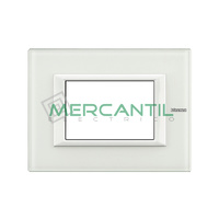 Marco Embellecedor Rectangular Axolute BTICINO - Color Cristal Blanco