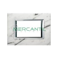 Marco Embellecedor Rectangular Axolute BTICINO - Color Marmol de Carrara