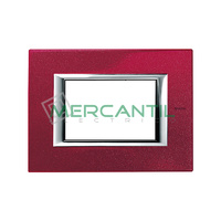 Marco Embellecedor Rectangular Axolute BTICINO - Color Rojo China