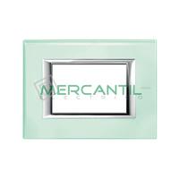 Marco Embellecedor Rectangular Axolute BTICINO - Color Vidrio Kristall