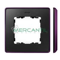 Marco Embellecedor SIMON 82 Detail Color Metalizado - Color Grafito/Morado