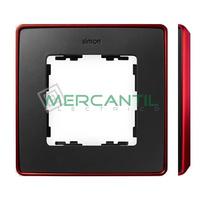 Marco Embellecedor SIMON 82 Detail Color Metalizado - Color Grafito/Rojo