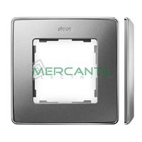 Marco Embellecedor SIMON 82 Detail Metal - Color Aluminio Frio/Cromo