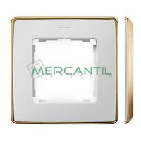 Marco Embellecedor SIMON 82 Detail Metal - Color Blanco/Oro