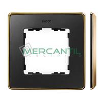 Marco Embellecedor SIMON 82 Detail Metal - Color Grafito/Oro