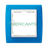 Marco Embellecedor Translucido SIMON 82 - Color Azul Translucido