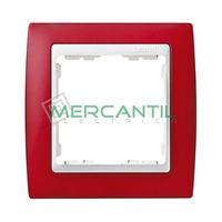 Marco Embellecedor Translucido SIMON 82 - Color Rojo Translucido