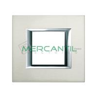 Marco Embellecedor Universal Axolute BTICINO - Color Aluminio Pulido
