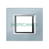 Marco Embellecedor Universal Axolute BTICINO - Color Cristal Azul