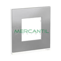 Marco Embellecedor Universal Pure New Unica SCHNEIDER ELECTRIC - Color Acero