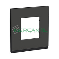 Marco Embellecedor Universal Pure New Unica SCHNEIDER ELECTRIC - Color Cristal Negro