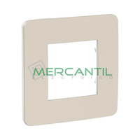 Marco Embellecedor Universal Soporte Blanco Studio Color New Unica SCHNEIDER ELECTRIC - Color Gris Cava