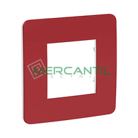 Marco Embellecedor Universal Soporte Blanco Studio Color New Unica SCHNEIDER ELECTRIC - Color Rojo