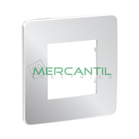 Marco Embellecedor Universal Soporte Blanco Studio Metal New Unica SCHNEIDER ELECTRIC - Color Aluminio
