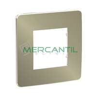 Marco Embellecedor Universal Soporte Blanco Studio Metal New Unica SCHNEIDER ELECTRIC - Color Bronce