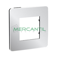 Marco Embellecedor Universal Soporte Negro Studio Metal New Unica SCHNEIDER ELECTRIC - Color Aluminio