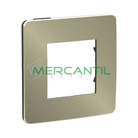 Marco Embellecedor Universal Soporte Negro Studio Metal New Unica SCHNEIDER ELECTRIC - Color Bronce