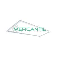 Marco de Empotrar para Panel LED 120x30 Aluminio LEDME