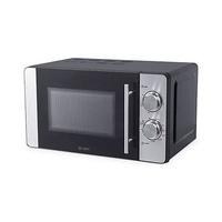 Microondas grill 800W 20L acero inoxidable con plato giratorio y 6 niveles de potencia GSC