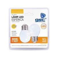 Pack 2 bombillas esfericas LED 6W E27 GSC