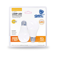 Pack 2 bombillas estandar LED 10W E27 GSC