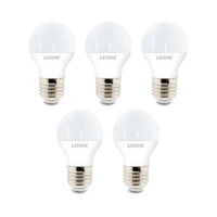 Pack 5 Bombillas LED 5W E27/G45 IP20 LEDME
